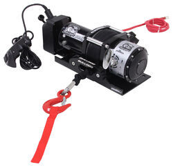 Bulldog Winch Trailer Winch - Synthetic Rope - Hawse Fairlead - 7,800 lbs