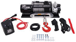 Bulldog Winch Trailer Winch - Wireless Remote - Synthetic Rope - Hawse Fairlead - 12,000 lbs