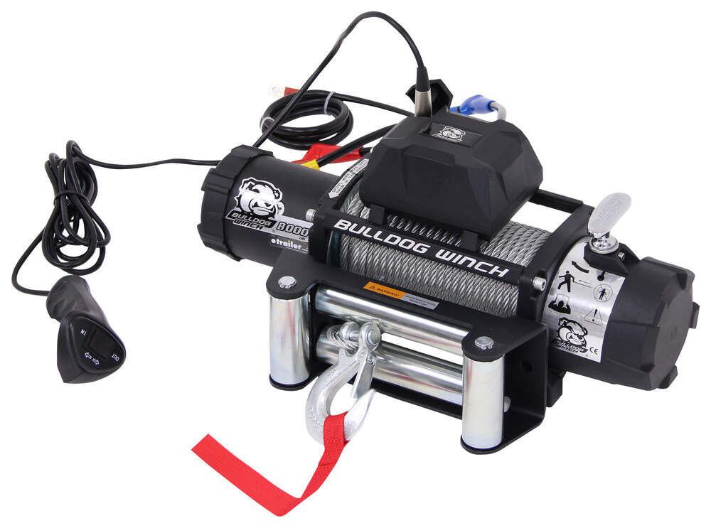 Bulldog Winch Standard Series Off-Road Winch - Wire Rope - Roller Fairlead - 8,000 lbs Non-Submersible BDW10041