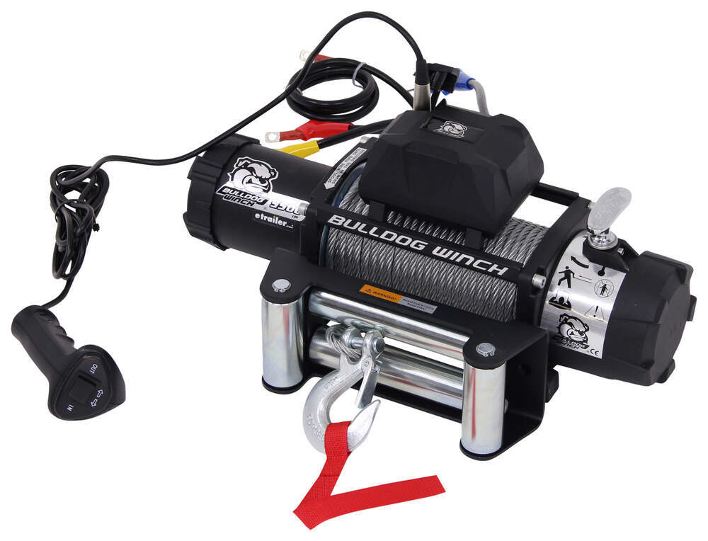 Bulldog Winch Standard Series Off-Road Winch - Wire Rope - Roller Fairlead - 9,500 lbs Load Holding Brake BDW10042