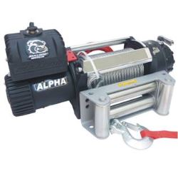 Bulldog Winch Alpha Series Off-Road Winch - Wire Rope - Roller Fairlead - 15,000 lbs