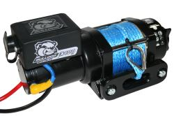 Bulldog Winch Trailer Winch - Synthetic Rope - Hawse Fairlead - 3,400 lbs