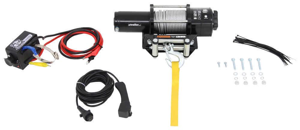 Bulldog Winch Trailer Winch - Wire Rope - Roller Fairlead - 4,400 lbs 2.0 HP BDW15019