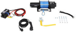 Bulldog Winch Trailer Winch - Synthetic Rope - Hawse Fairlead - 4,400 lbs