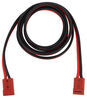 bulldog winch jumper cables and starters color coding cable extension set - quick connect to 2 gauge 15' long