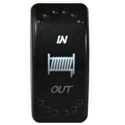 In/Out LED Rocker Switch For Bulldog Winch - 4 Pin - White