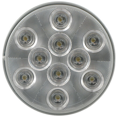 Sealed  4 U0026quot  Round Led Trailer Utility Light  Flush Mount  10 Super Diode