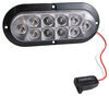 Optronics LED Trailer Utility Light - Submersible - 10 Diodes - Oval - Clear Lens White BUL78C3MB