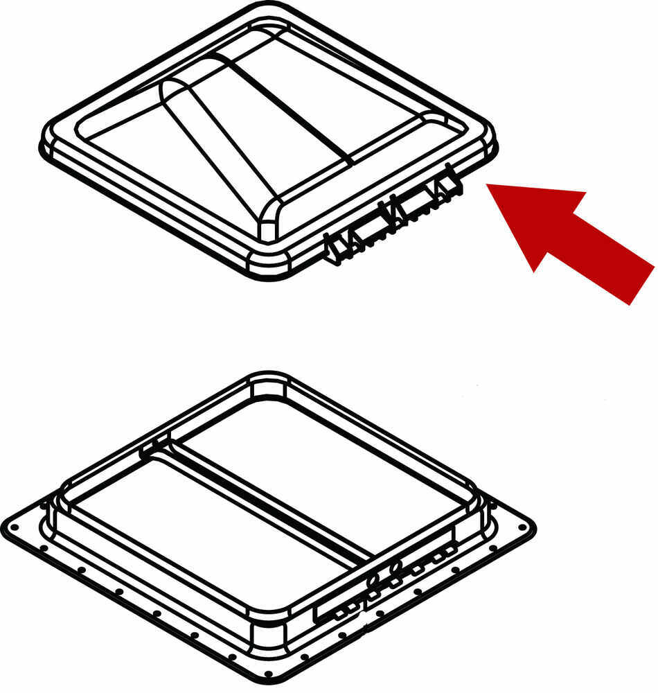 Compare Replacement Dome Vs Vent Cover For Diagram Replacing 5th Wheel Hitch Head Spring Etrailercom Bvd0449 A01 White Ventline Rv Vents And Fans