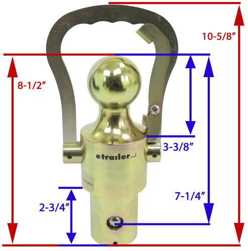 Dimensions of Gooseneck hitch ball