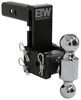 "B&W Tow & Stow 2-Ball Mount - 2"" Hitch - 5"" Drop, 5-1/2"" Rise - 10K - Black Class IV,10000 lbs GTW BWTS10037B"