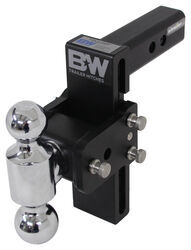 "B&W Tow & Stow 2-Ball Mount - 2"" Hitch - 7"" Drop, 7-1/2"" Rise - 10K - Black"