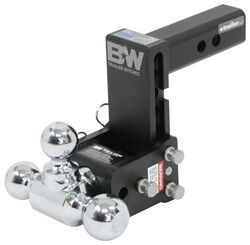 "B&W Tow & Stow 3-Ball Mount - 2"" Hitch - 5"" Drop, 5-1/2"" Rise - 10K - Black"