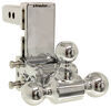 "B&W Tow & Stow 3-Ball Mount - 2"" Hitch - 5"" Drop, 5-1/2"" Rise - 10K - Chrome Fits 2 Inch Hitch BWTS10048C"