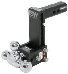 "B&W Tow & Stow 3-Ball Mount - 2"" Hitch - 7"" Drop, 7-1/2"" Rise - 10K - Black"
