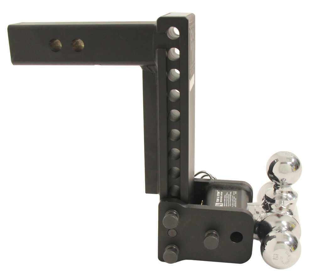 """Adjustable Tow Hitch >> B&W Tow & Stow 3-Ball Mount - 2"""" Hitch - 9"""" Drop, 9-1/2"""" Rise - 10K - Black B and W Ball Mounts ..."""