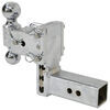 b and w trailer hitch ball mount adjustable two balls b&w tow & stow 2-ball - 2.5 inch 5 drop/4.5 rise 14.5k chrome