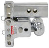 b and w trailer hitch ball mount adjustable drop - 5 inch rise 4-1/2 b&w tow & stow 2-ball 2.5 drop/4.5 14.5k chrome