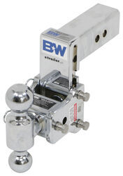 "B&W Tow & Stow 2-Ball Mount - 2.5"" Hitch - 5"" Drop/4.5"" Rise - 14.5K - Chrome"