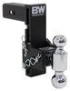 b and w trailer hitch ball mount adjustable drop - 7 inch rise b&w tow & stow 2-ball 2-1/2 7-1/2 drop/rise 14.5k black
