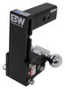 b and w trailer hitch ball mount adjustable class v 14500 lbs gtw b&w tow & stow 2-ball - 2-1/2 inch 7-1/2 drop/rise 14.5k black