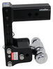 b and w trailer hitch ball mount adjustable drop - 7 inch rise bwts20040b