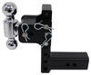 b and w trailer hitch ball mount two balls drop - 7 inch rise bwts20040b