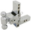 b and w ball mounts adjustable mount drop - 7 inch rise 7-1/2 b&w tow & stow 2-ball 2.5 hitch drop/7.5 14.5k chrome