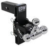 "B&W Tow & Stow 3-Ball Mount - 2-1/2"" Hitch - 7-1/2"" Drop/Rise - 14.5K - Black Fits 2-1/2 Inch Hitch BWTS20049B"