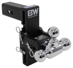 "B&W Tow & Stow 3-Ball Mount - 2-1/2"" Hitch - 7-1/2"" Drop/Rise - 14.5K - Black"