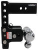 "B&W Tow & Stow 3-Ball Mount - 2.5"" Hitch - 7"" Drop/7.5"" Rise - 14.5K - Black Fits 2-1/2 Inch Hitch BWTS20049B"