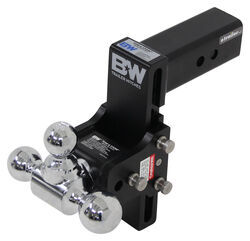 "B&W Tow & Stow 3-Ball Mount - 2-1/2"" Hitch - 7-1/2"" Drop/Rise - 14.5K - Black - BWTS20049B"