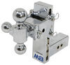 b and w trailer hitch ball mount adjustable drop - 7 inch rise 7-1/2 b&w tow & stow 3-ball 2.5 drop/7.5 14.5k chrome