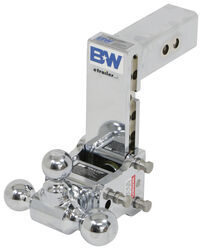 "B&W Tow & Stow 3-Ball Mount - 2.5"" Hitch - 7"" Drop/7.5"" Rise - 14.5K - Chrome"
