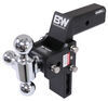 b and w trailer hitch ball mount adjustable drop - 7 inch rise 7-1/2 b&w tow & stow 3-ball compatible with gm multipro tailgate 2.5 14.5k