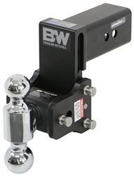 "B&W Tow & Stow 2-Ball Mount - 3"" Hitch - 4-1/2"" Drop, 4"" Rise - 21K - Black"