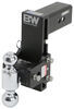 b and w ball mounts adjustable mount drop - 7-1/2 inch rise 7 b&w tow & stow 2-ball 3 hitch -7-1/2 21k black