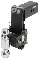 "B&W Tow & Stow 2-Ball Mount - 3"" Hitch -7-1/2"" Drop, 7"" Rise - 21K - Black"