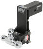 b and w ball mounts adjustable mount drop - 7-1/2 inch rise 7 b&w tow & stow 3-ball 3 hitch 21k black