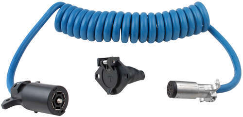 Blue Ox 7-Wire to 6-Wire, Coiled Electrical Cord Blue Ox Accessories ...