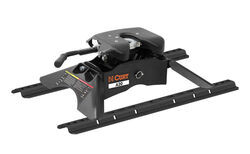 Curt A20 5th Wheel Trailer Hitch w/ Rails and Universal Installation Kit - Dual Jaw - 20,000 lbs