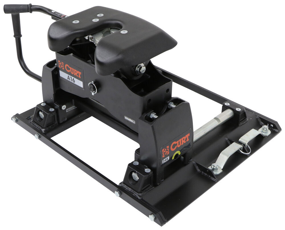 Curt A16 5th Wheel Trailer Hitch W Slider For Ford Towing Prep Diagram Replacing Head Spring Etrailercom Package Dual Jaw 16000 Lbs Fifth C16520 16020