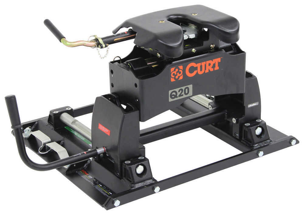 Curt Fifth Wheel Hitch >> Curt Q20 5th Wheel Trailer Hitch w/ Slider for Ford Towing Prep Package - Dual Jaw - 20,000 lbs ...