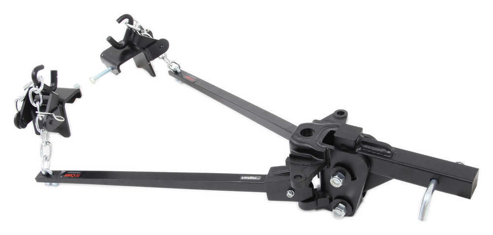 Curt Short-Arm Weight Distribution System with Shank - Trunnion Bar - 10,000 lbs GTW, 1,000 lbs TW Bar Style C17332