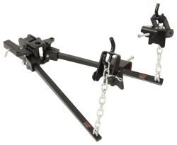 Curt Short-Arm Weight Distribution System with Shank - Trunnion Bar - 15,000 lbs GTW, 1,500 lbs TW