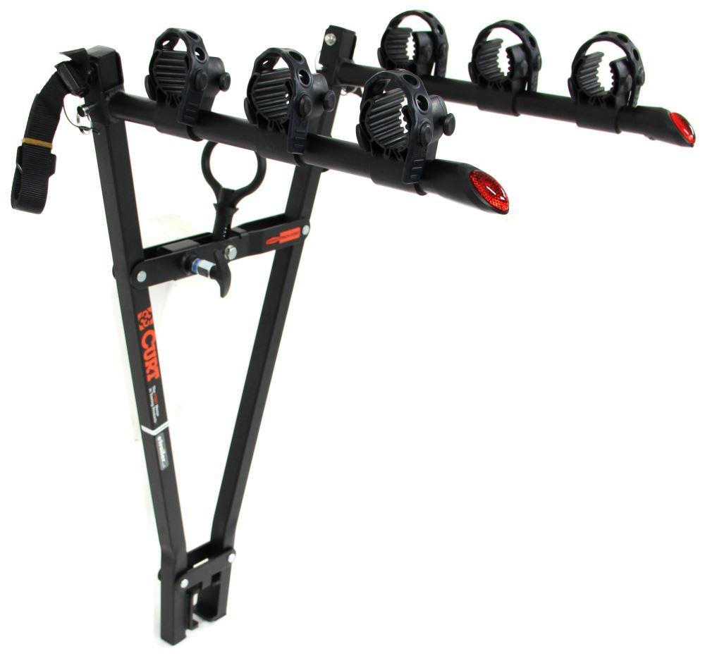 "2 Bike Hitch Rack >> Curt Clamp-On 3 Bike Rack for 2"" Ball Mounts - Towing Curt Hitch Bike Racks C18013"