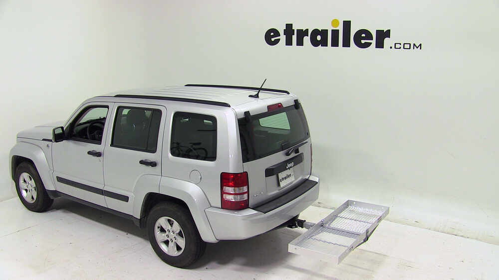 2012 jeep liberty 19x60 curt cargo carrier for 2 hitches. Black Bedroom Furniture Sets. Home Design Ideas