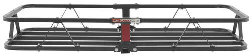curt hitch cargo carrier fits 1-1/4 inch 2 and class i ii iii iv 17x46 for hitches - steel 500 lbs