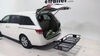 "24x60 Curt Cargo Carrier for 2"" Hitches - Steel - Folding - 500 lbs Folding Carrier C18153 on 2014 Honda Odyssey"