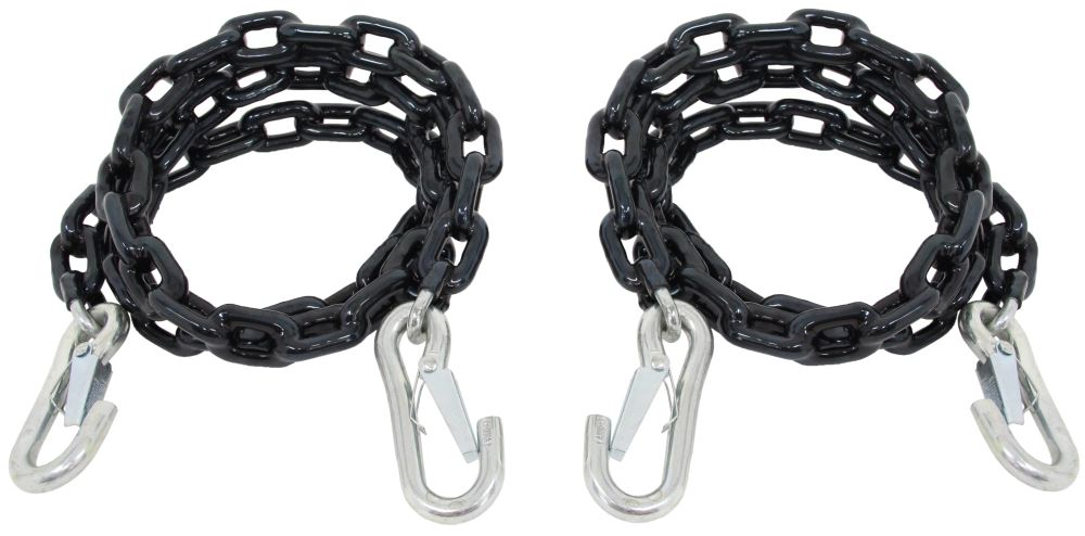"""Curt Safety Chains with Latching Hooks - 60"""" Long - 5,000 lbs - Qty 2 60 Inch Long C19749"""
